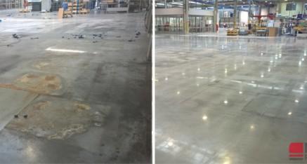 Polerowanie betonu dla firmy Nord Napędy, Nowa Sól 2015