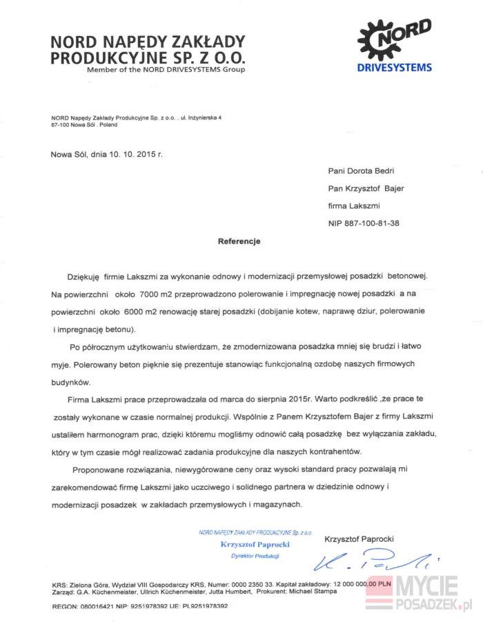 Referencje Modernizacja Posadzek Przemysłowych