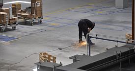 Naprawa posadzki przemysłowej