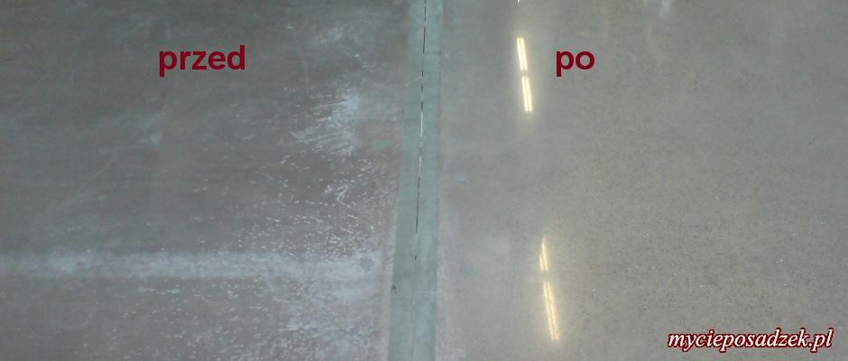 Polerowany beton przed po