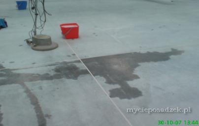 usuwanie oleju z betonu